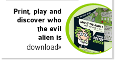 print, play and discover who the evil alien is